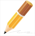 Pencil isolated detailed vector