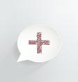 Red cross vector
