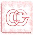 Cg monogram vector