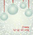 Christmas greeting card with glass balls vector