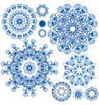 Round ornam blue 2 380 vector