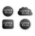Coffee to go buttons vector