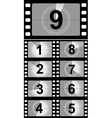 Film countdown numbers vector