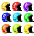 Set of helmets luge vector