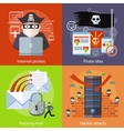 Hacker attaks internet pirates and pirate sites vector