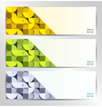 Set of three abstract banners vector