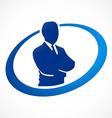Success businessman abstract logo vector