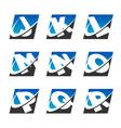 Swoosh sport alphabet logo icons set 2 vector