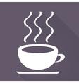 Hot drink web icon vector