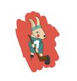 Bunny skating vector