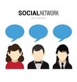 Social network speech bubbles vector