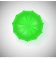 Opened green umbrella top view closeup vector