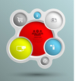 Circle group with icons for business concepts vector
