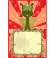 Dragon greeting card vector