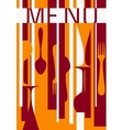 Template of menu background design vector