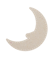 Moon recycled papercraft on white paper background vector