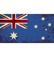 Australian flag grunge background vector