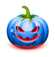 Halloween pumpkin face vector