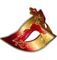 Isolated venician carnival mask vector