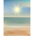 Beach and tropical sea with bright sun eps 10 vector