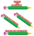 Green pencil and back to school vector