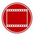 Film strip button vector