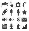 Simple black icon set 2 vector