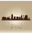 San antonio texas skyline city silhouette vector