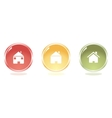 Glossy home buttons vector
