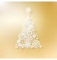 Abstract golden christmas tree vector