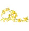 Decorative ornamental floral vintage vector