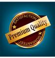 Premium quality badge vector