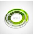 Futuristic rings company logo 3d design vector