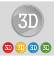 3d sign icon 3d-new technology symbol set of vector