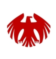 Fierce red eagle heraldic silhouette vector
