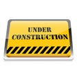 Under construction board vector