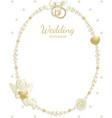 Wedding jewel frame vector