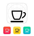 Empty tea cup icon vector