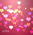 Colorful hearts background valentine vector