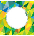 Retro color background with coupon vector