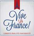 Vive la france bastille day card in format vector