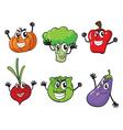 Various vegetables vector