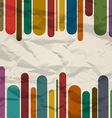 Old striped template colorful vintage background vector