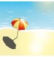 Beach and umbrella in a summer design vector
