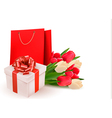 Valentines day background with gift box and vector