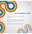 White rainbow presentation background vector