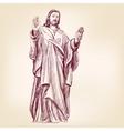 Jesus christ christianity hand drawn llustration vector