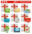Christmas delivery set 7 vector