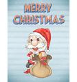 Retro christmas poster vector