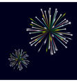 Colorful shiny fireworks on black background eps10 vector